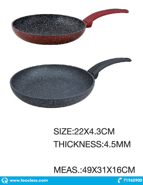 lava stone granite non stick open fry pan buy more pay less. Black Bedroom Furniture Sets. Home Design Ideas